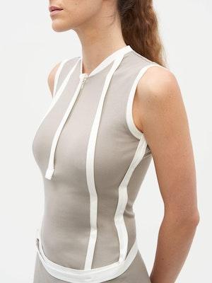 Wrap Dress Grey by Vaara - 3