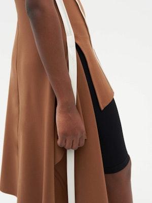 Wrap Dress Brown by Vaara - 5