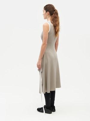Wrap Dress Grey by Vaara - 6