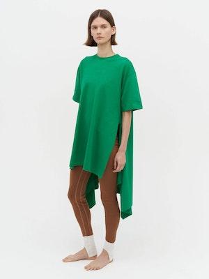 Wrap T-Shirt Dress Green by Vaara - 1