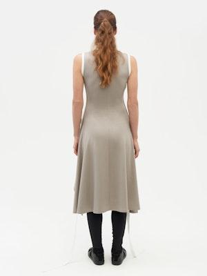 Wrap Dress Grey by Vaara - 5