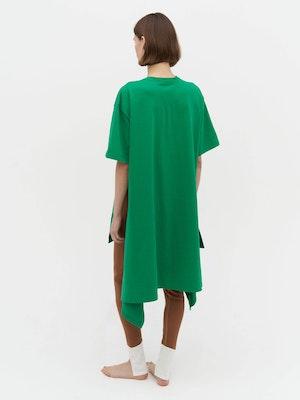 Wrap T-Shirt Dress Green by Vaara - 4