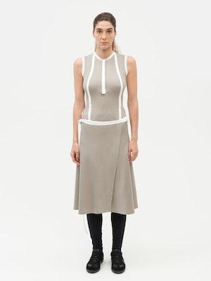 Wrap Dress Grey by Vaara - 1