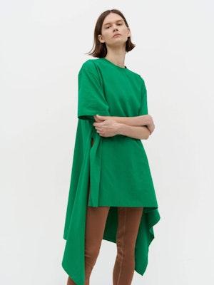 Wrap T-Shirt Dress Green by Vaara - 2