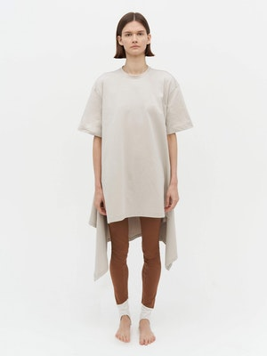 Wrap T-Shirt Dress Grey by Vaara - 1