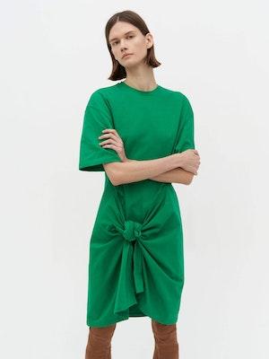 Wrap T-Shirt Dress Green by Vaara - 3