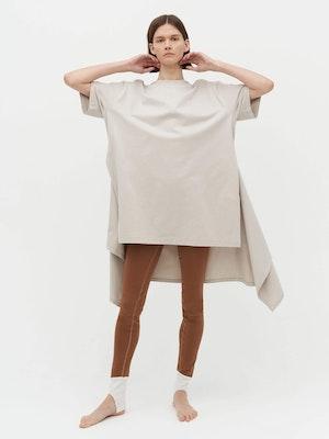 Wrap T-Shirt Dress Grey by Vaara - 2