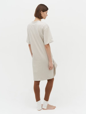Wrap T-Shirt Dress Grey by Vaara - 3