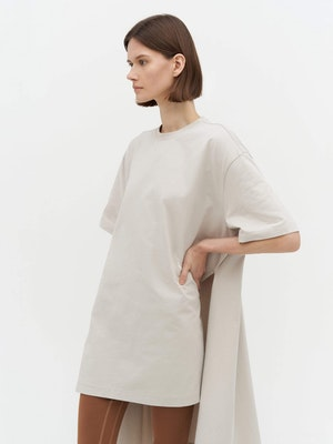 Wrap T-Shirt Dress Grey by Vaara - 4