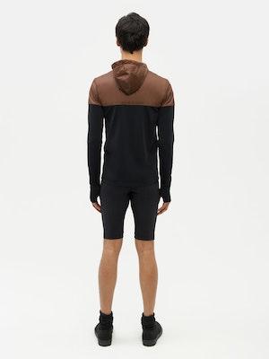 Hooded Bicolour Top Black by Vaara - 5