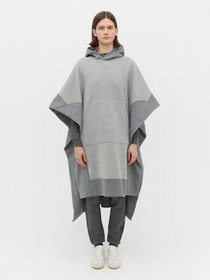 Lena Contrast Poncho Grey by Vaara - 1