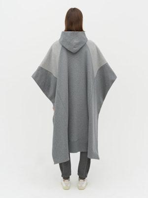 Lena Contrast Poncho Grey by Vaara - 4