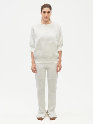 Reverse Patch Sweatpant White by Vaara - 1