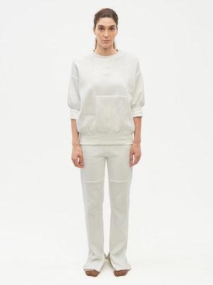 Reverse Patch Sweatshirt White by Vaara - 1