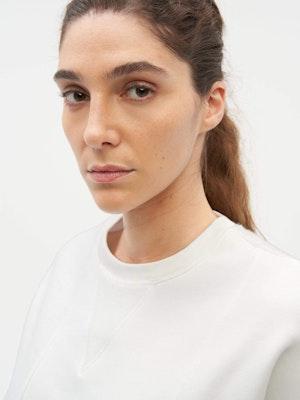 Reverse Patch Sweatshirt White by Vaara - 3