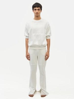 Reverse Patch Sweatshirt White by Vaara - 2