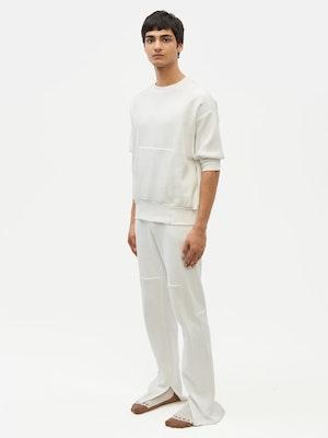 Reverse Patch Sweatshirt White by Vaara - 4