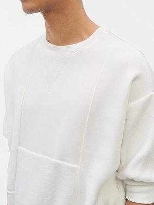 Reverse Patch Sweatshirt White by Vaara - 6