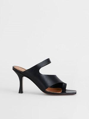 Aradeo Black Cutout heels