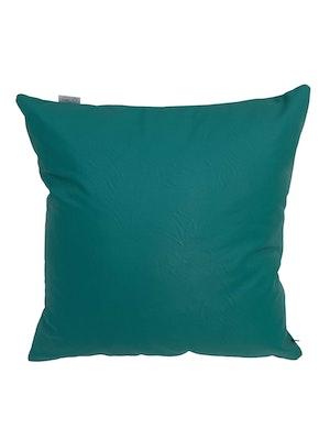 CaSa Vegan Leather Square Pillow in Blue Algae by Simon Miller - 1