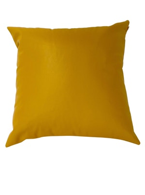 CaSa Vegan Leather Square Pillow in Mustard by Simon Miller - 1