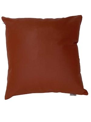CaSa Vegan Leather Square Pillow in Squash by Simon Miller - 1