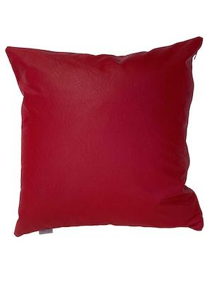 CaSa Vegan Leather Square Pillow in Tomato by Simon Miller - 1