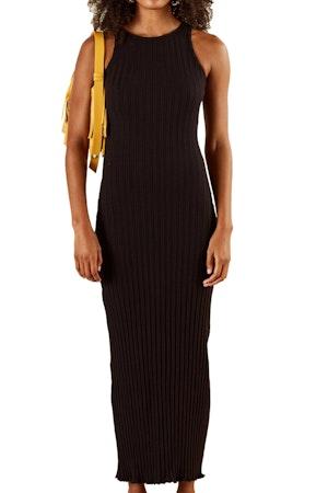 RIB LANI DRESS IN BLACK by Simon Miller - 1