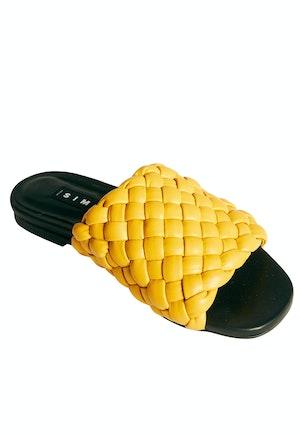 Vegan Slit Slide in Yolk Yellow by Simon Miller - 1