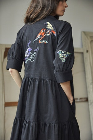 Juliet Short tiered dress Lovebirds by Tallulah & Hope - 2