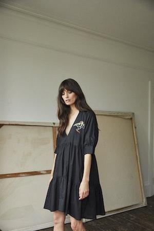 Juliet Short tiered dress Lovebirds by Tallulah & Hope - 3