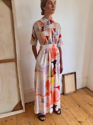 Short Sleeve Blouse Doves 1 by Tallulah & Hope - 4