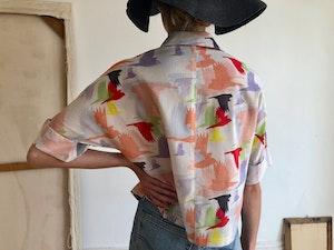 Short Sleeve Blouse Doves 1 by Tallulah & Hope - 2