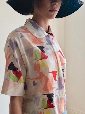 Short Sleeve Blouse Doves 1 by Tallulah & Hope - 3