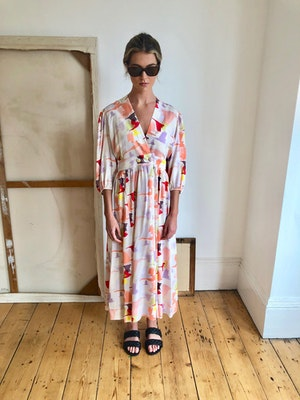 Lola dress Doves by Tallulah & Hope - 1