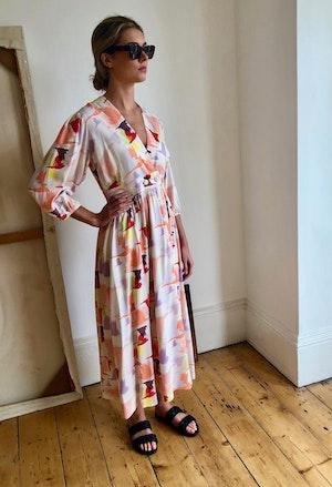Lola dress Doves by Tallulah & Hope - 2