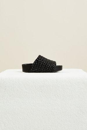 Vegan Woven Dip Slide in Black by Simon Miller - 1