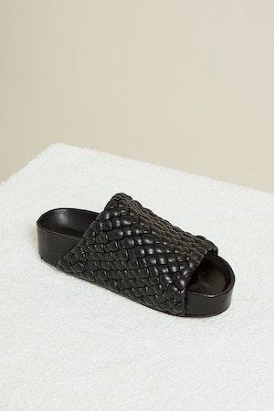 Vegan Woven Dip Slide in Black by Simon Miller - 2