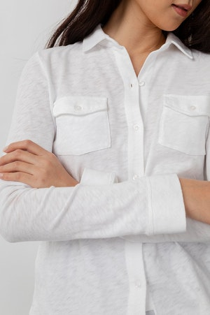 THE JERSEY BUTTON DOWN - WHITE by Rails - 4