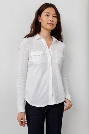 THE JERSEY BUTTON DOWN - WHITE by Rails - 5