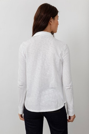 THE JERSEY BUTTON DOWN - WHITE by Rails - 3