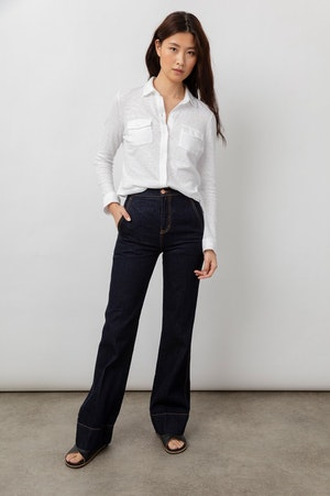 THE JERSEY BUTTON DOWN - WHITE by Rails - 6