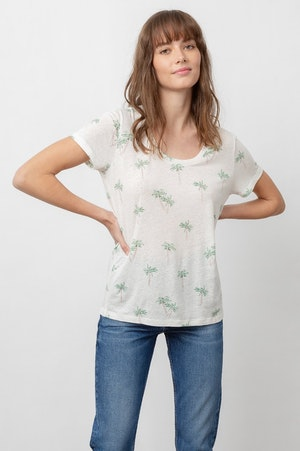 THE LUNA SCOOP NECK - SKETCHED PALMS by Rails - 9