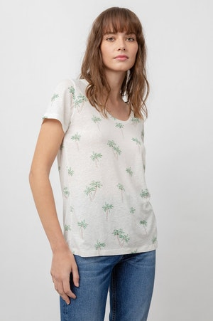 THE LUNA SCOOP NECK - SKETCHED PALMS by Rails - 3