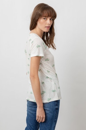 THE LUNA SCOOP NECK - SKETCHED PALMS by Rails - 6