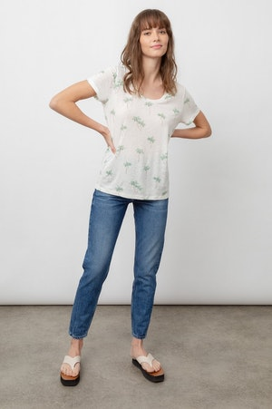 THE LUNA SCOOP NECK - SKETCHED PALMS by Rails - 7