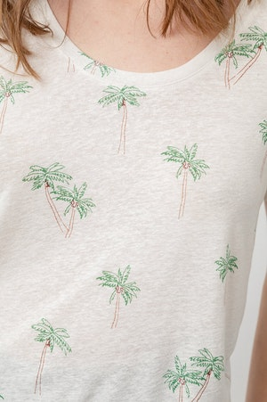THE LUNA SCOOP NECK - SKETCHED PALMS by Rails - 8