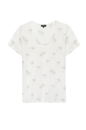 THE LUNA SCOOP NECK - SKETCHED PALMS by Rails - 1