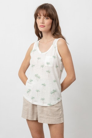 THE QUINN SCOOP TANK - SKETCHED PALMS by Rails - 7