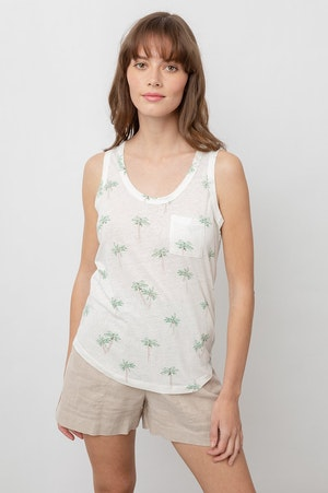 THE QUINN SCOOP TANK - SKETCHED PALMS by Rails - 8